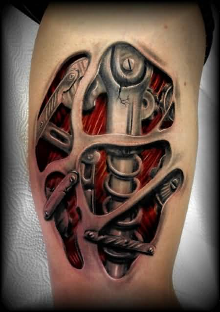 biomechanical tattoos for men ideas and inspiration for guys. Black Bedroom Furniture Sets. Home Design Ideas