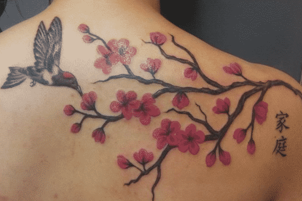 cherry blossom tattoos for men ideas and inspiration for guys. Black Bedroom Furniture Sets. Home Design Ideas