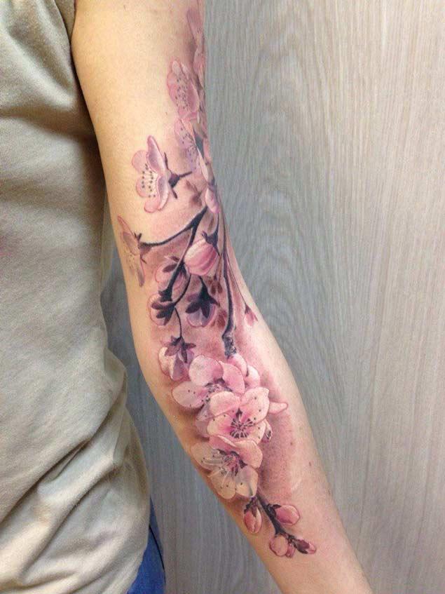 Cherry Blossom Tattoos For Men Ideas And Inspiration Guys