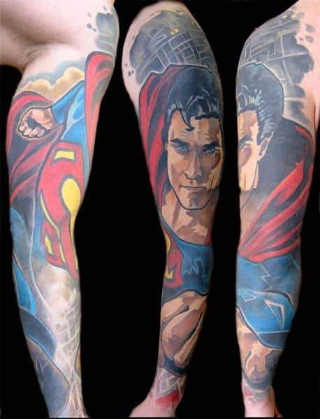 dc comic tattoos for men ideas and inspiration for guys. Black Bedroom Furniture Sets. Home Design Ideas