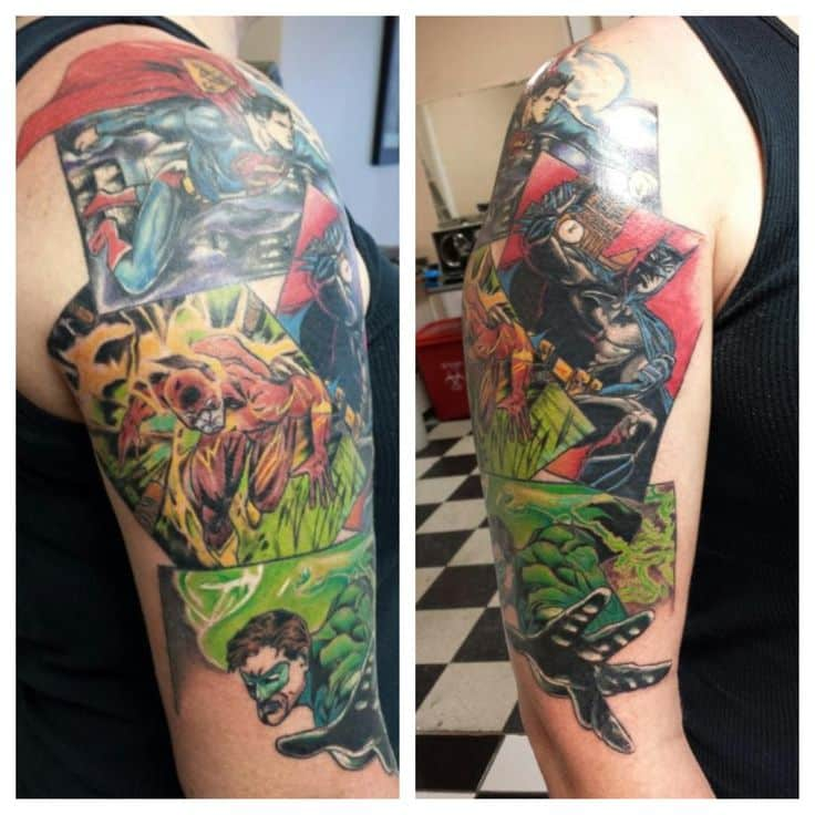 dc comic tattoos for ideas and inspiration for guys
