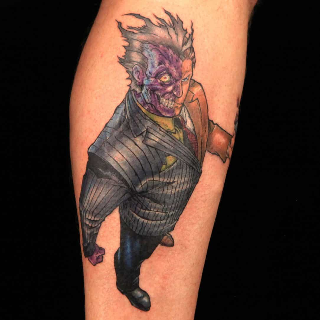 Dc comic tattoos for men ideas and inspiration for guys for Two faced tattoo