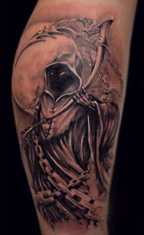 Grim reaper tattoos for men ideas and inspiration for guys for Tattoos of the grim reaper