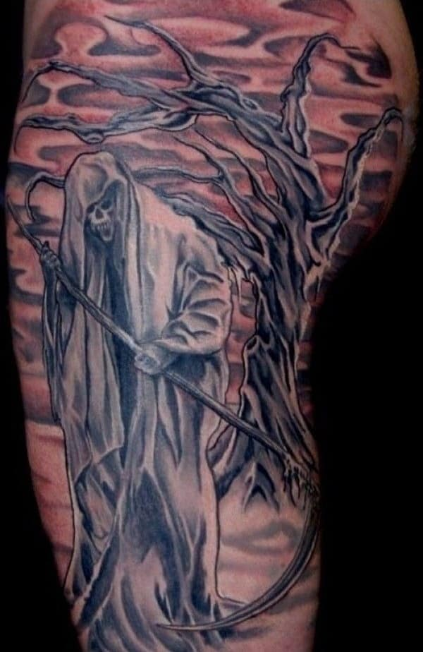 Grim Reaper Tattoos for Men - Ideas and Inspiration for Guys
