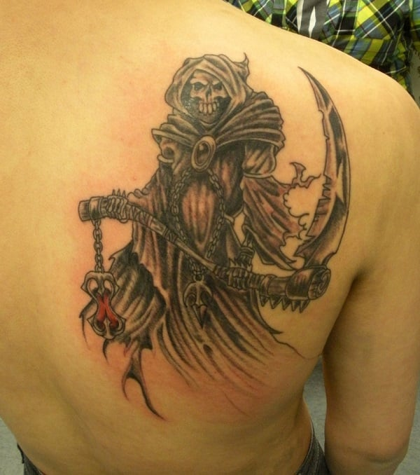 grim reaper tattoos for men ideas and inspiration for guys. Black Bedroom Furniture Sets. Home Design Ideas