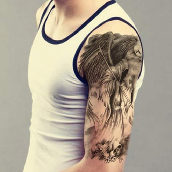 Grim Reaper Back Tattoo: Ideas And Inspiration For Guys