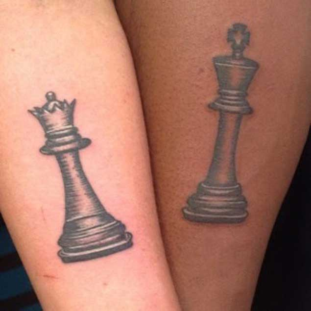 Queen Chess Piece Tattoo On Wrist King and Queen Tattoos...
