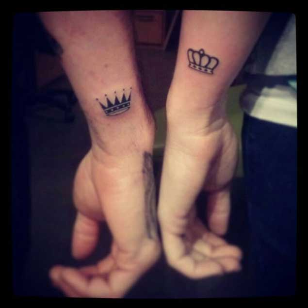 King And Queen Tattoos For Men