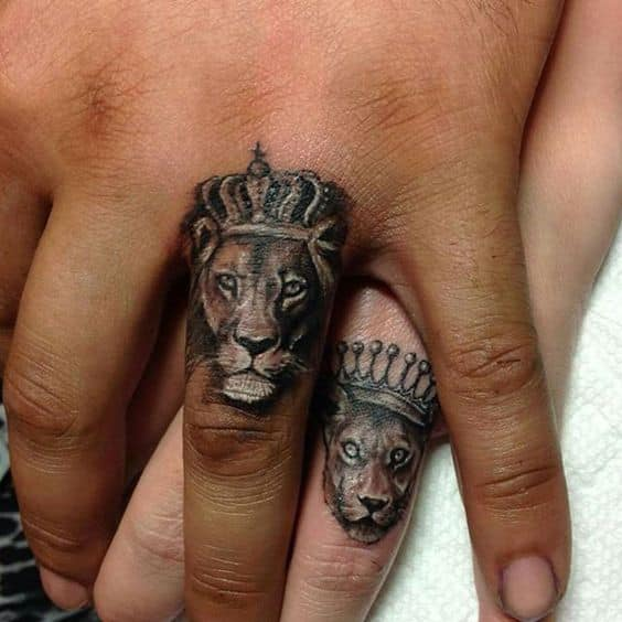 King and queen tattoos for men ideas and inspiration for for King and queen skull tattoos