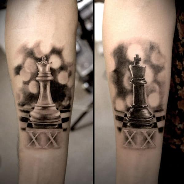 king and queen tattoos for men ideas and inspiration for guys. Black Bedroom Furniture Sets. Home Design Ideas