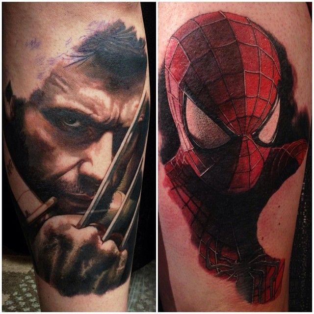 marvel tattoos for men ideas and inspiration for guys. Black Bedroom Furniture Sets. Home Design Ideas