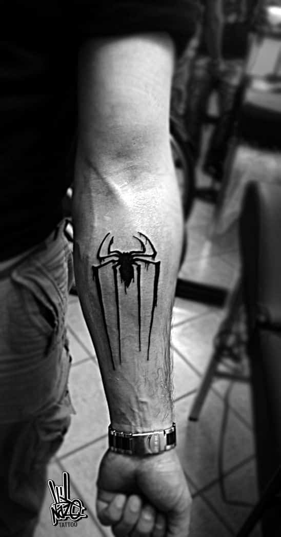 Marvel tattoos for men ideas and inspiration for guys for Spiderman tattoo arm
