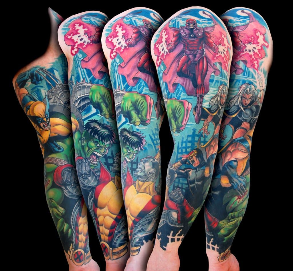 Marvel Tattoos for Men - Ideas and Inspiration for Guys