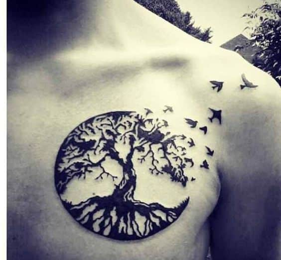 tree of life tattoos for men ideas and inspiration for guys rh menstattooideas net acacia tree silhouette tattoo african acacia tree tattoo