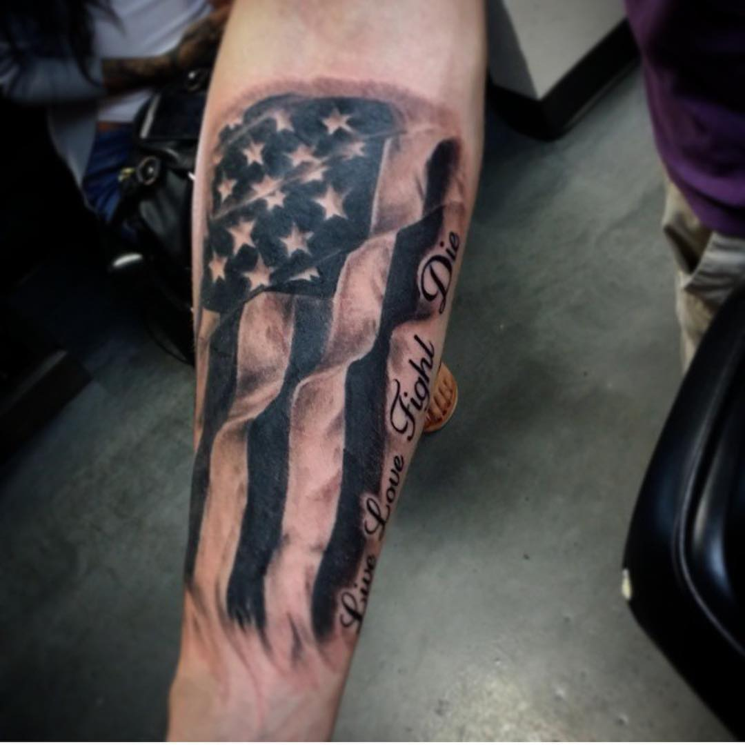 American Flag Tattoos For Men