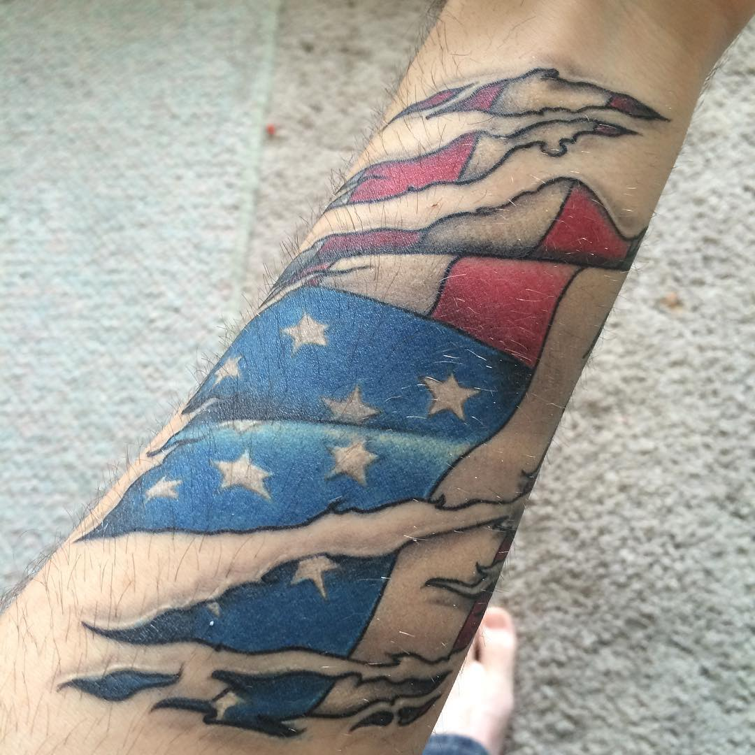 american flag tattoos for men ideas and designs for guys. Black Bedroom Furniture Sets. Home Design Ideas