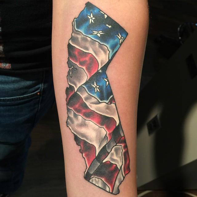 American flag tattoos designs tribal
