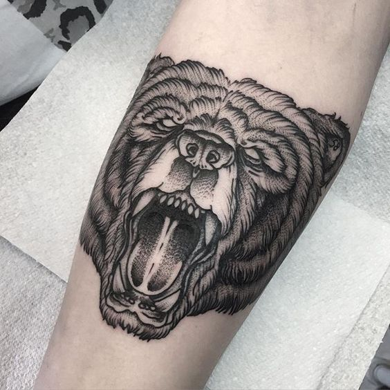 roaring bear tattoo design wwwpixsharkcom images