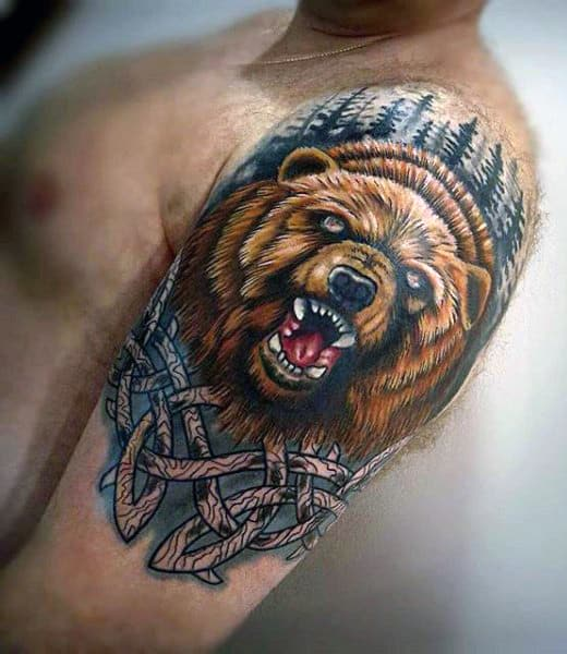 Bear tattoos for men ideas and inspiration for guys for Bear claw tattoo