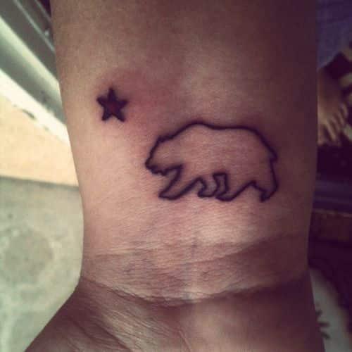 Bear tattoos for men ideas and inspiration for guys for California bear tattoos