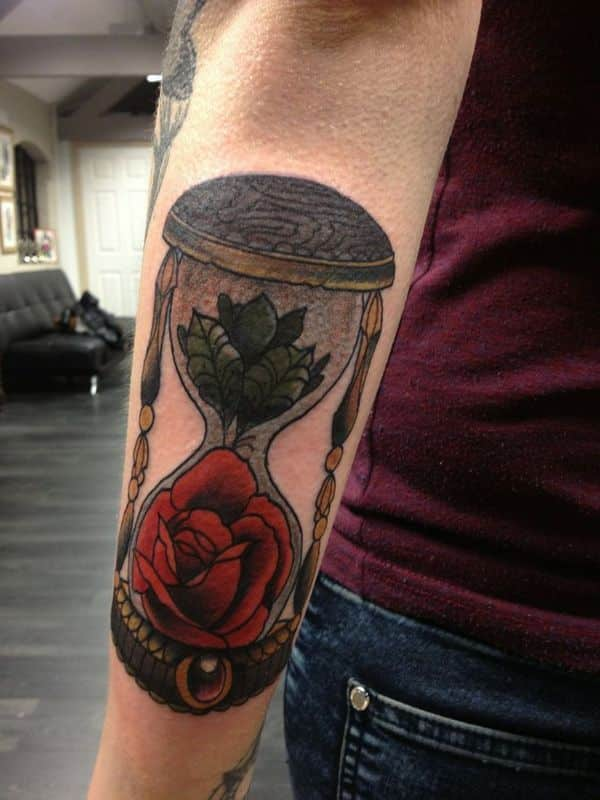 Hourglass Tattoos for Men - Ideas and Inspiration for Guys