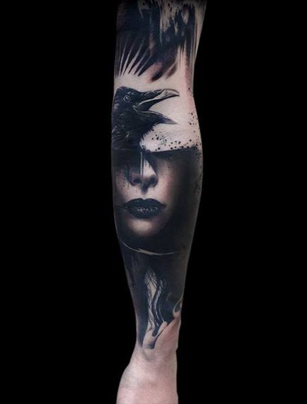 da20037ad Raven Tattoos for Men - Ideas and Inspiration for Guys