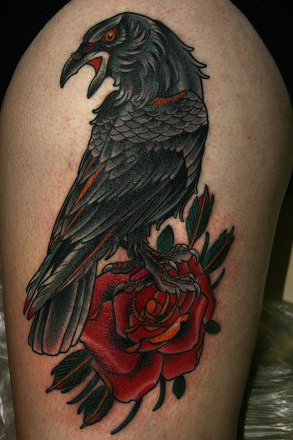 Raven tattoos for men ideas and inspiration for guys for Ravens face tattoos