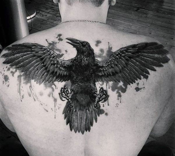 Raven Tattoos for Men - Ideas and Inspiration for Guys Batman Tattoo Chest