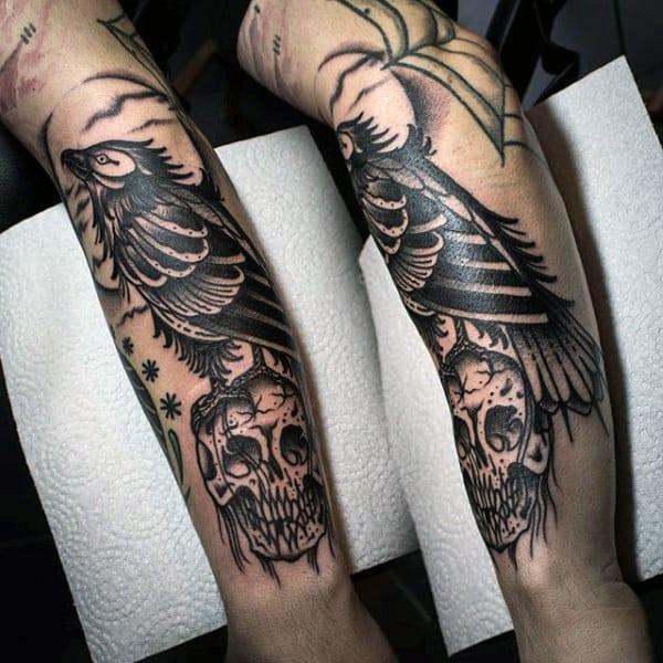 Raven Tattoos Meaning Men: The Crow Symbolism – BK3