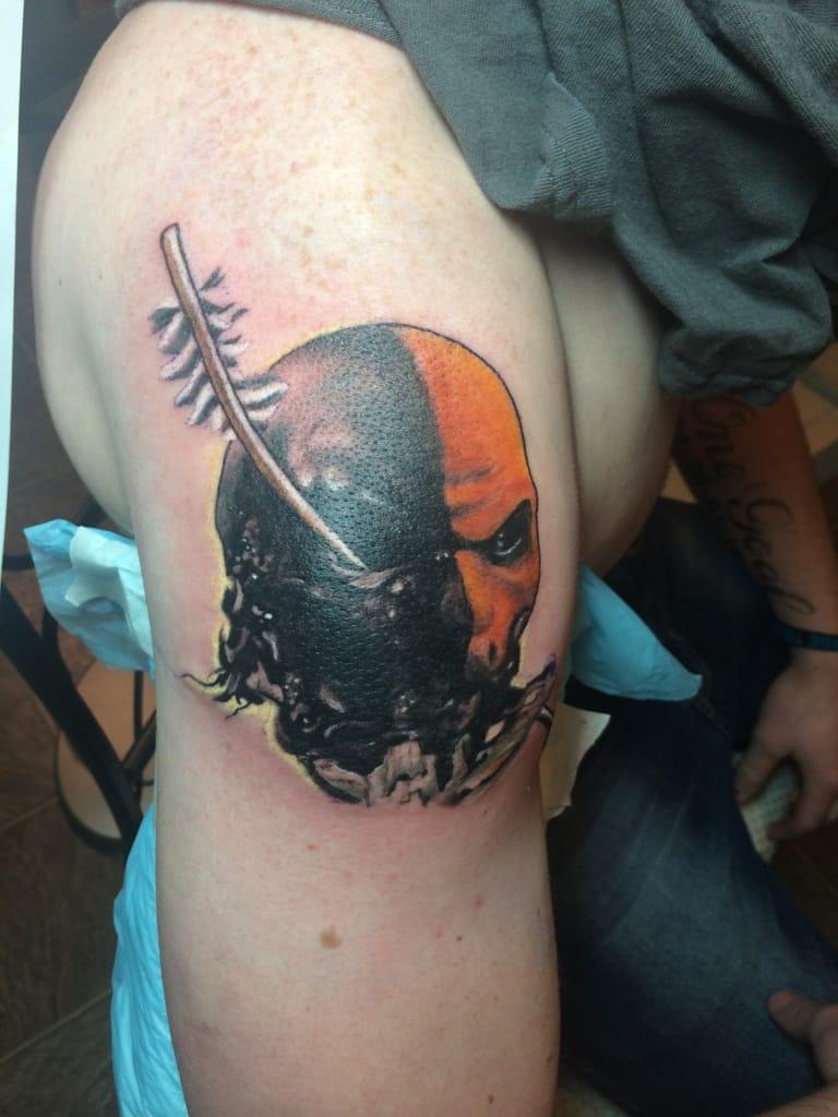 Superhero tattoos for men ideas and inspiration for guys for Sebastian tattoo artist dc