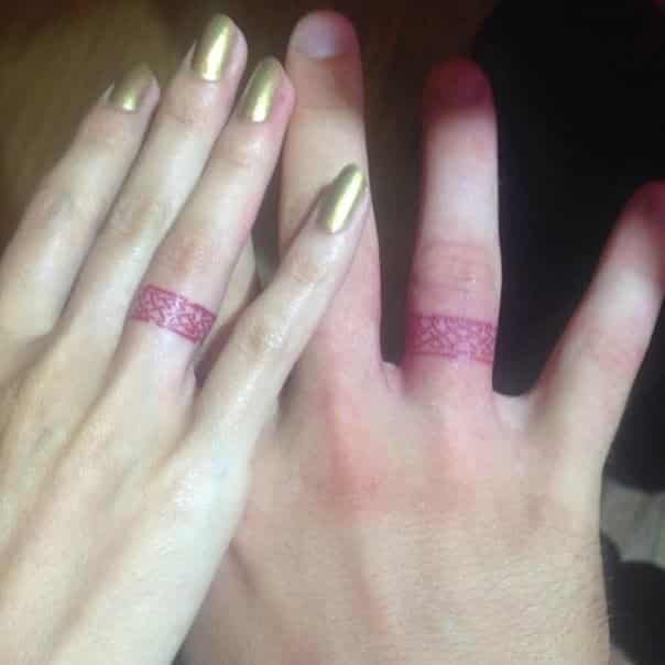 White Ink Tattoos Wedding Ring: Ideas And Inspiration For Guys