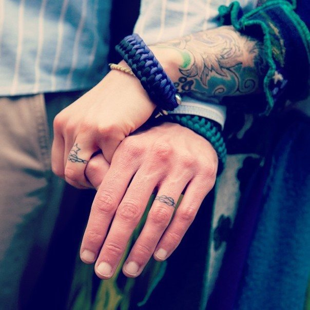 Wedding Band Tattoos For Men