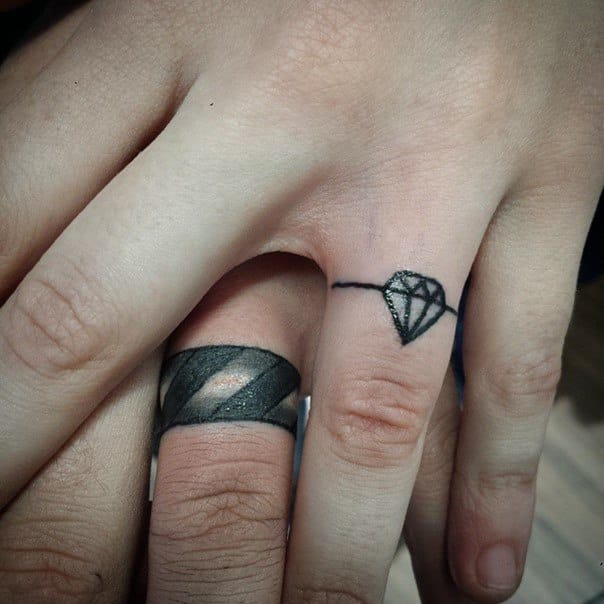 wedding ring tattoos for men ideas and inspiration for guys. Black Bedroom Furniture Sets. Home Design Ideas
