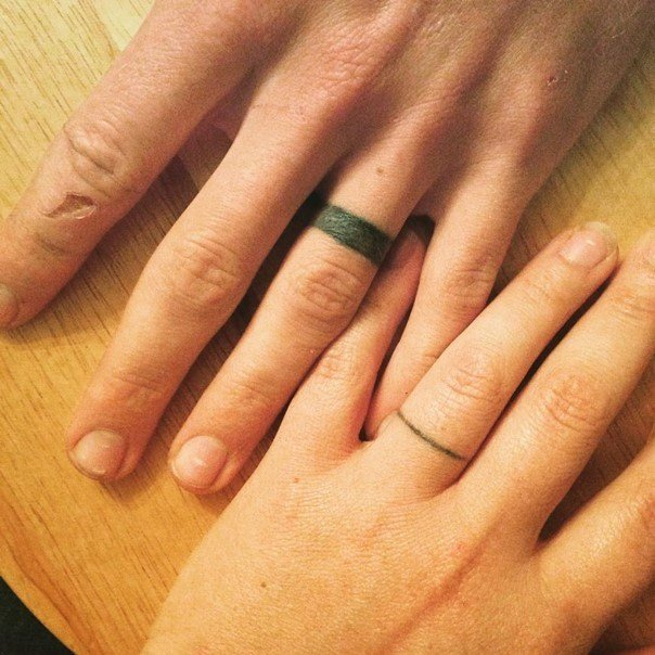 Wedding Ring Tattoos for Men - Ideas and Inspiration for Guys