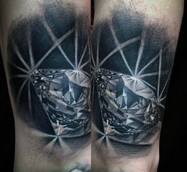 diamond tattoos for men ideas and inspiration for guys. Black Bedroom Furniture Sets. Home Design Ideas