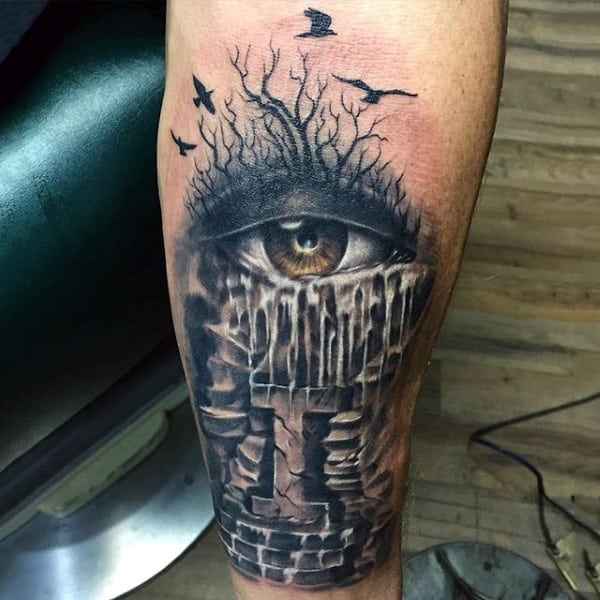Eye tattoos for men ideas and inspiration for guys for Eye with clock tattoo