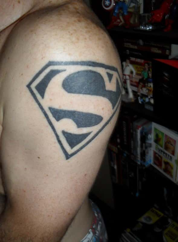 Superman symbol tattoo ideas
