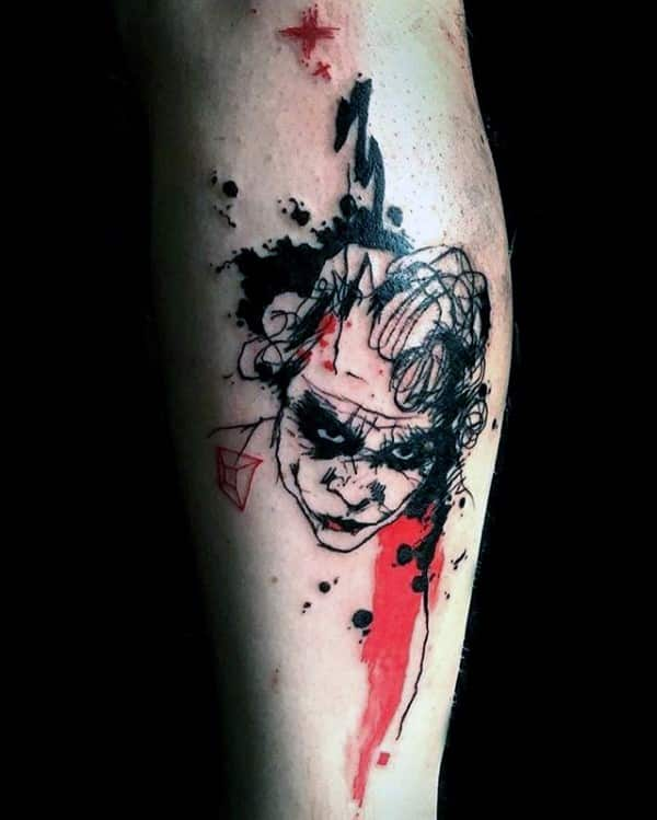 Image result for Joker Tattoo Designs