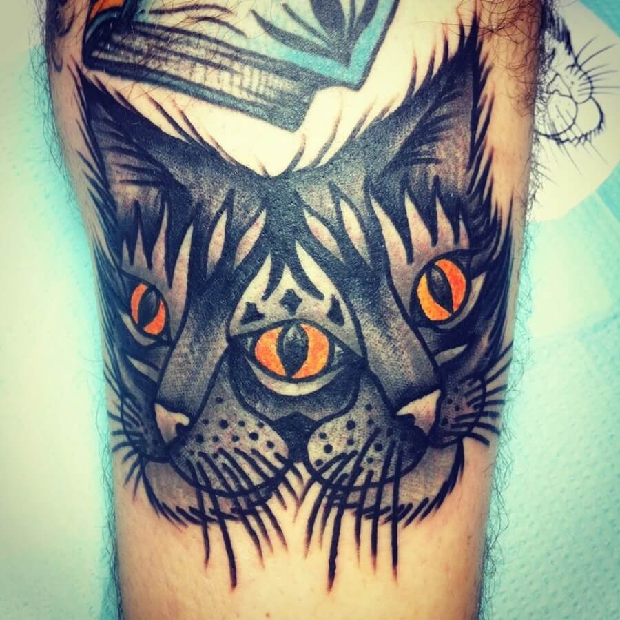 Cat tattoos for men ideas and inspiration for guys for Bad cat tattoo