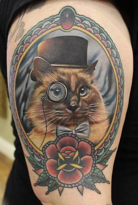 cat tattoos for men ideas and inspiration for guys. Black Bedroom Furniture Sets. Home Design Ideas