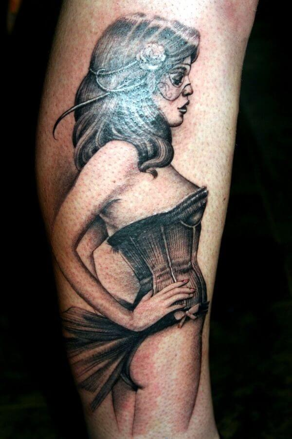 3c52b5a05 Pin Up Girl Tattoos for Men - Ideas and Inspiration for Guys