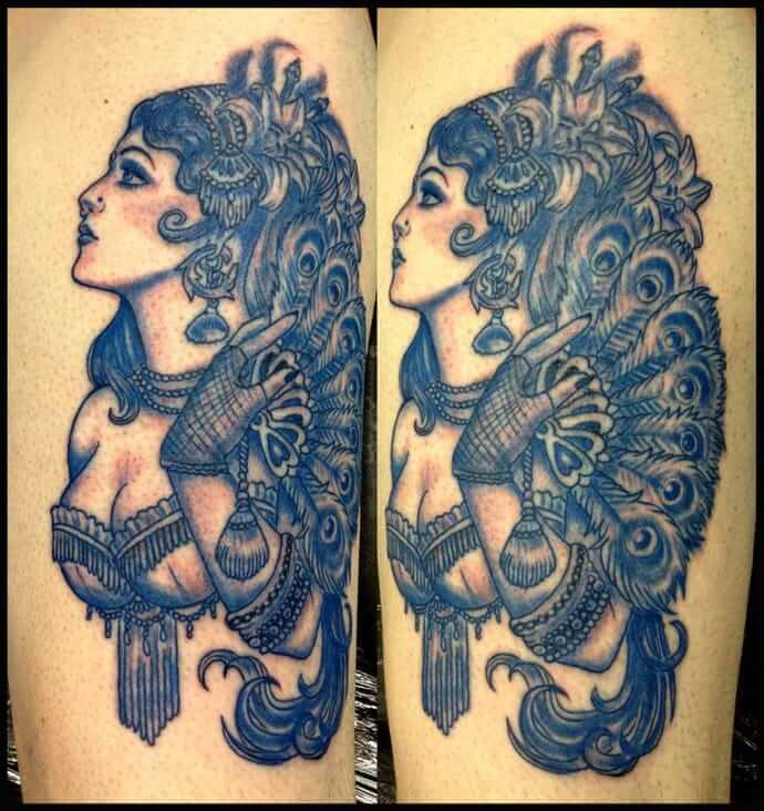 Pin Up Girl Tattoos for Men - Ideas and Inspiration for Guys