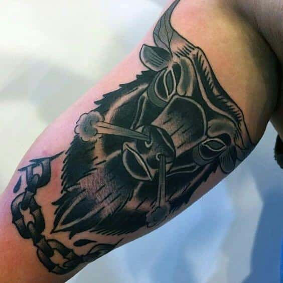 Taurus tattoos for men ideas and inspiration for guys for Taurus tattoos ideas