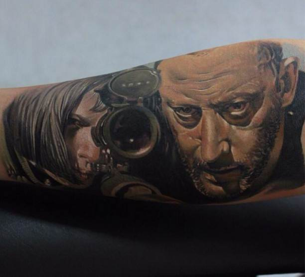 """bdf1045097d10 Intensity is one of the best features with tattoo ideas for men. If you  agree, this design is the right one for you, as nothing sense """"intense""""  more than ..."""