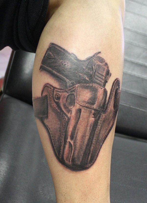 gun tattoos for men ideas and inspiration for guys. Black Bedroom Furniture Sets. Home Design Ideas