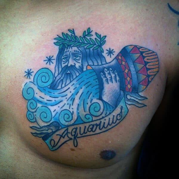 Aquarius Tattoos For Men Ideas And Inspiration For Guys