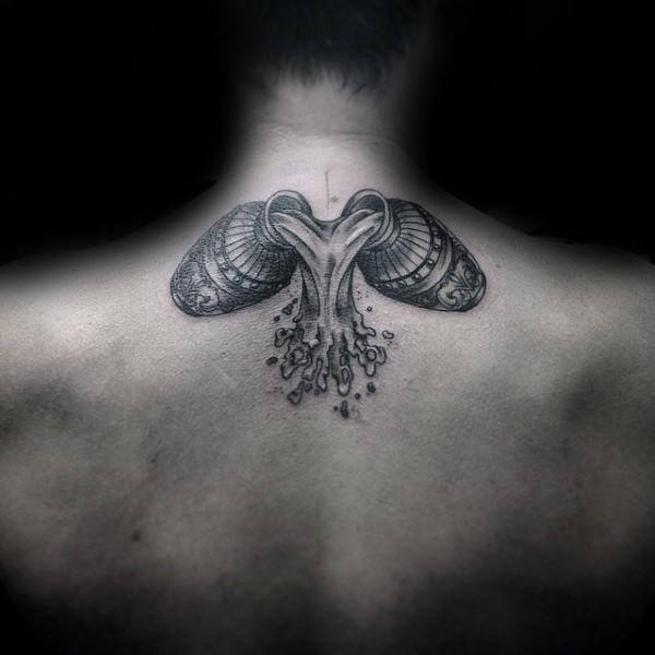 Aquarius Tattoos for Men - Ideas and Inspiration for Guys