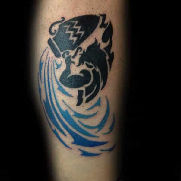 Aquarius tattoos for men ideas and inspiration for guys for Zig zag man tattoo