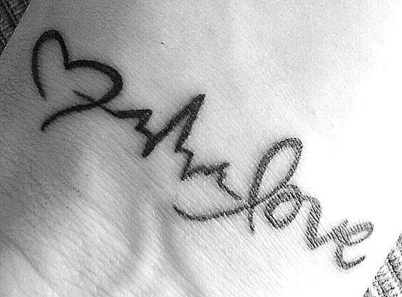 until we meet again tattoo heart beat