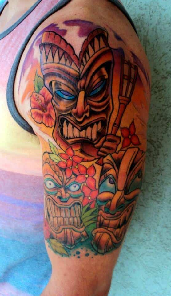 Tiki tattoos for men ideas and designs for guys for Polynesian tiki tattoo